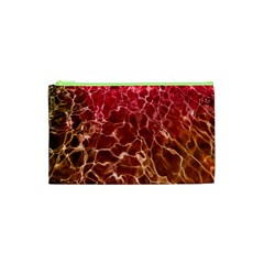 Background Water Abstract Red Wallpaper Cosmetic Bag (xs) by Simbadda