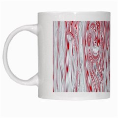 Abstract Swirling Pattern Background Wallpaper Pattern White Mugs by Simbadda