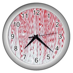 Abstract Swirling Pattern Background Wallpaper Pattern Wall Clocks (silver)  by Simbadda