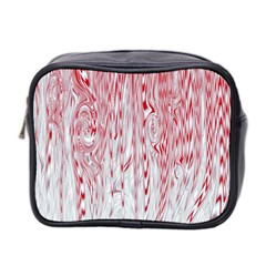 Abstract Swirling Pattern Background Wallpaper Pattern Mini Toiletries Bag 2 Side by Simbadda