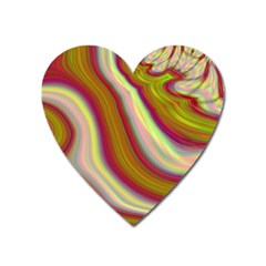 Artificial Colorful Lava Background Heart Magnet by Simbadda