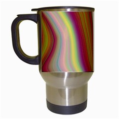 Artificial Colorful Lava Background Travel Mugs (white) by Simbadda