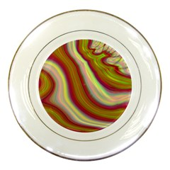 Artificial Colorful Lava Background Porcelain Plates by Simbadda