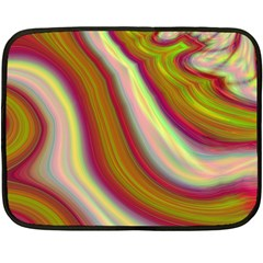 Artificial Colorful Lava Background Double Sided Fleece Blanket (mini)  by Simbadda