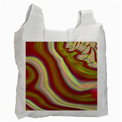 Artificial Colorful Lava Background Recycle Bag (one Side) by Simbadda