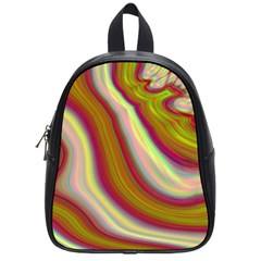 Artificial Colorful Lava Background School Bags (small)  by Simbadda