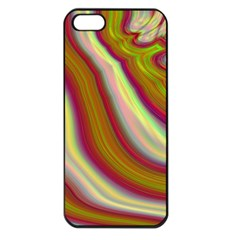Artificial Colorful Lava Background Apple Iphone 5 Seamless Case (black) by Simbadda