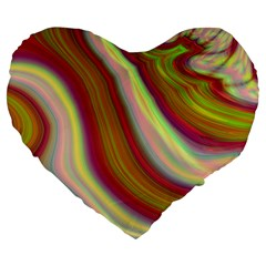 Artificial Colorful Lava Background Large 19  Premium Heart Shape Cushions by Simbadda