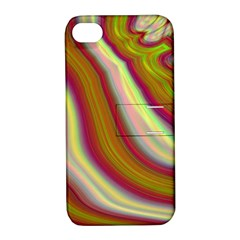 Artificial Colorful Lava Background Apple Iphone 4/4s Hardshell Case With Stand by Simbadda