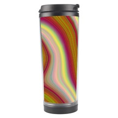 Artificial Colorful Lava Background Travel Tumbler by Simbadda