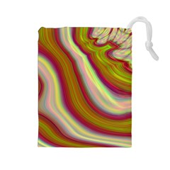 Artificial Colorful Lava Background Drawstring Pouches (large)  by Simbadda