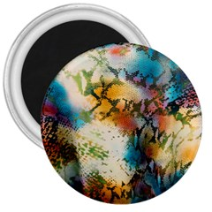 Abstract Color Splash Background Colorful Wallpaper 3  Magnets by Simbadda