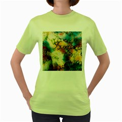 Abstract Color Splash Background Colorful Wallpaper Women s Green T Shirt by Simbadda