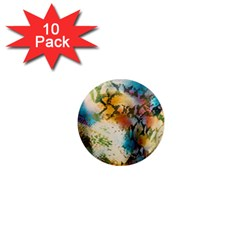 Abstract Color Splash Background Colorful Wallpaper 1  Mini Magnet (10 Pack)  by Simbadda