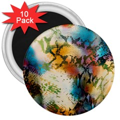 Abstract Color Splash Background Colorful Wallpaper 3  Magnets (10 Pack)  by Simbadda