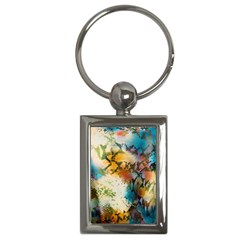 Abstract Color Splash Background Colorful Wallpaper Key Chains (rectangle)  by Simbadda