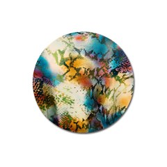 Abstract Color Splash Background Colorful Wallpaper Magnet 3  (round) by Simbadda