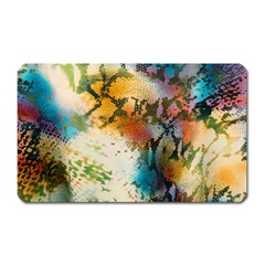 Abstract Color Splash Background Colorful Wallpaper Magnet (rectangular) by Simbadda