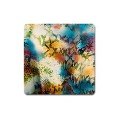 Abstract Color Splash Background Colorful Wallpaper Square Magnet by Simbadda