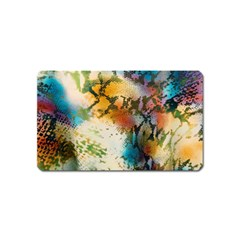 Abstract Color Splash Background Colorful Wallpaper Magnet (name Card) by Simbadda
