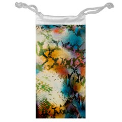 Abstract Color Splash Background Colorful Wallpaper Jewelry Bag by Simbadda
