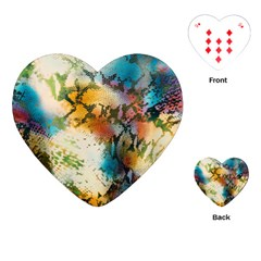 Abstract Color Splash Background Colorful Wallpaper Playing Cards (heart)  by Simbadda