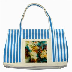 Abstract Color Splash Background Colorful Wallpaper Striped Blue Tote Bag by Simbadda