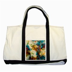 Abstract Color Splash Background Colorful Wallpaper Two Tone Tote Bag by Simbadda