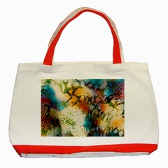 Abstract Color Splash Background Colorful Wallpaper Classic Tote Bag (red) by Simbadda