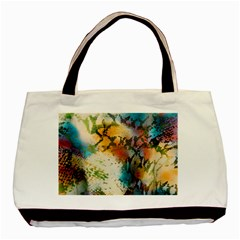 Abstract Color Splash Background Colorful Wallpaper Basic Tote Bag (two Sides) by Simbadda