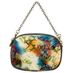 Abstract Color Splash Background Colorful Wallpaper Chain Purses (two Sides)  by Simbadda