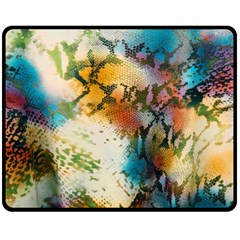 Abstract Color Splash Background Colorful Wallpaper Fleece Blanket (medium)  by Simbadda