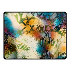 Abstract Color Splash Background Colorful Wallpaper Fleece Blanket (small) by Simbadda