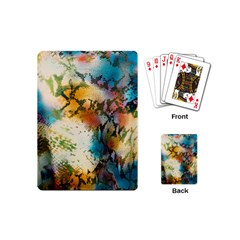 Abstract Color Splash Background Colorful Wallpaper Playing Cards (mini)  by Simbadda