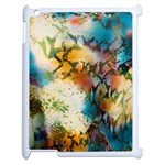 Abstract Color Splash Background Colorful Wallpaper Apple iPad 2 Case (White) Front