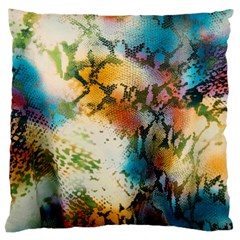 Abstract Color Splash Background Colorful Wallpaper Large Cushion Case (one Side) by Simbadda
