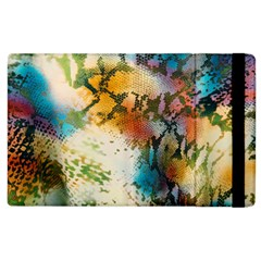 Abstract Color Splash Background Colorful Wallpaper Apple Ipad 2 Flip Case by Simbadda