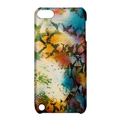 Abstract Color Splash Background Colorful Wallpaper Apple Ipod Touch 5 Hardshell Case With Stand by Simbadda