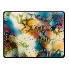 Abstract Color Splash Background Colorful Wallpaper Double Sided Fleece Blanket (small)  by Simbadda