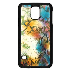 Abstract Color Splash Background Colorful Wallpaper Samsung Galaxy S5 Case (black) by Simbadda