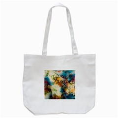 Abstract Color Splash Background Colorful Wallpaper Tote Bag (white) by Simbadda