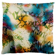 Abstract Color Splash Background Colorful Wallpaper Large Flano Cushion Case (two Sides) by Simbadda
