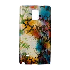 Abstract Color Splash Background Colorful Wallpaper Samsung Galaxy Note 4 Hardshell Case by Simbadda