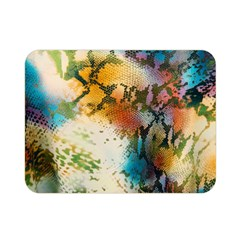 Abstract Color Splash Background Colorful Wallpaper Double Sided Flano Blanket (mini)  by Simbadda