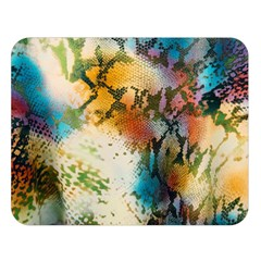 Abstract Color Splash Background Colorful Wallpaper Double Sided Flano Blanket (large)  by Simbadda