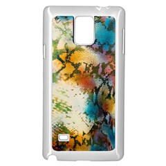 Abstract Color Splash Background Colorful Wallpaper Samsung Galaxy Note 4 Case (white) by Simbadda