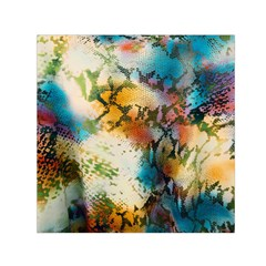 Abstract Color Splash Background Colorful Wallpaper Small Satin Scarf (square) by Simbadda