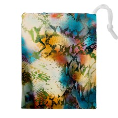 Abstract Color Splash Background Colorful Wallpaper Drawstring Pouches (xxl) by Simbadda