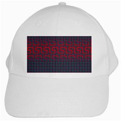 Abstract Tiling Pattern Background White Cap by Simbadda
