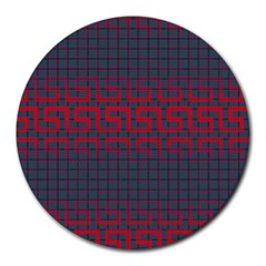 Abstract Tiling Pattern Background Round Mousepads by Simbadda